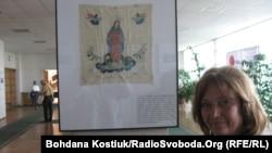 Ікона, яку вишила у Норильському таборі мати Наталки Бєлової Анастасія Тарнавська