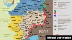 Ситуація в зоні бойових дій на Донбасі, 24 вересня 2019 року. Інфографіка Міністерства оборони України