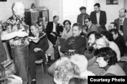 Международный научный семинар. Среди участников – академик Сахаров. Москва, 1977 г.
