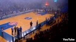 Scene sa utakmice Budućnosti i Partizana