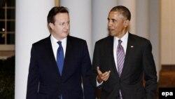 Прем'єр-міністр Великобританії Дейвід Камерон (Л) та президент США Барак Обама