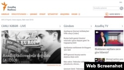 The homepage of azadliq.org, the website of RFE/RL's Azerbaijani Service (captured on April 27, 2017)