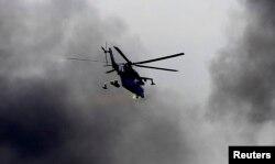 Украинский военный вертолёт Ми-24