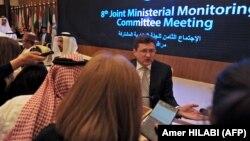 وزرای نفت روسیه (راست) و عربستان سعودی