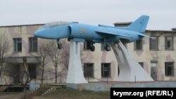 Исторический палубный штурмовик вертикального взлета Як-36 в Новофедоровке