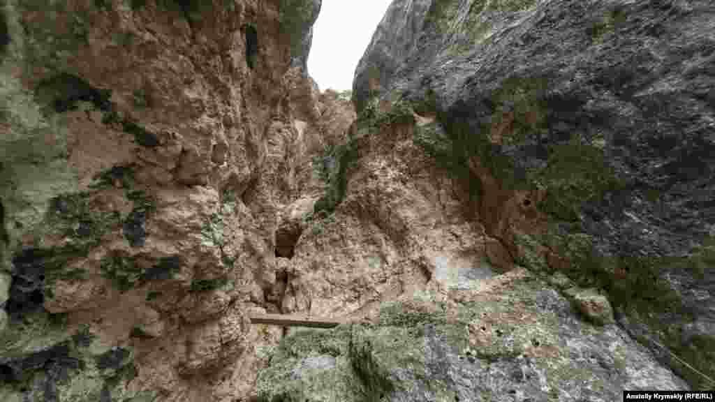 Пещера разделена глыбовыми завалами на три этажа, которые соединяются многочисленными колодцами. По ним можно только проползти. В пещере живет популяция летучих мышей вида большой подковонос, занесенных в Красную книгу