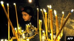 С утра во всех православных церквях Грузии проходила литургия