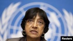 Глава Відомства ООН з прав людини Наві Піллей. Женева