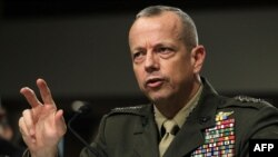 U.S. -- Marine General John Allen, the chief US and NATO commander in Afghanistan, testifies during a hearing before the Senate Armed Services Committee Capitol Hill in Washington, DC, 22Mar2012