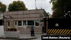ورودی سفارت آمریکا در آنکارا