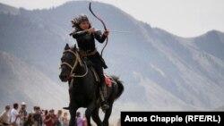 Участница из Турции на III Всемирных играх кочевников в Кыргызстане. 2018 год.