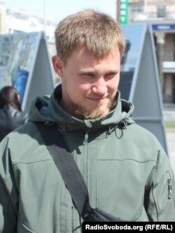 Боєць «Правого сектору» Ілля Богданов. Київ, 23 квітня 2015 року
