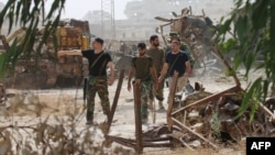 В районе Алеппо.