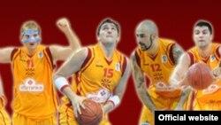 Дел од кошаркарската репрезентација на Македонија.