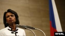 U.S. Secretary of State Condoleezza Rice in Prague