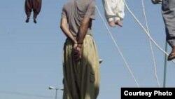 دا په ایران کې د اعدامولو عکس دی