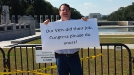 "Furloughed federal employee John Aucott is ""embarrassed"" for the people who came to see Washington."