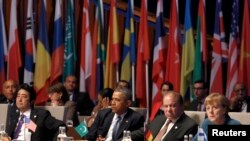 Leader at the opening session of the Nuclear Security Summit in The Hague March 24, 2014.