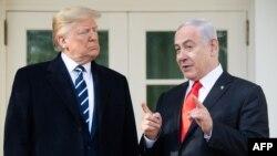 Predsednik SAD Donald Tramp i izraelski premijer Benjamin Netanjahu