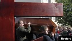Похороны белорусского журналиста Олега Бебенина, 6.09.2010
