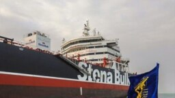 The Stena Impero anchored off the Iranian port city of Bandar Abbas in July.