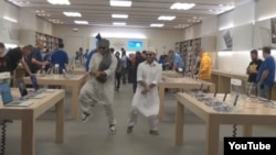 Shukran and Roshan took their Gangnam style to a suburban shopping mall, among other places.