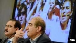 هیات سوری در کنفرانس خبری مسکو