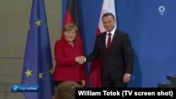 Angela Merkel și Andrzej Duda (Foto: TV/ARD)