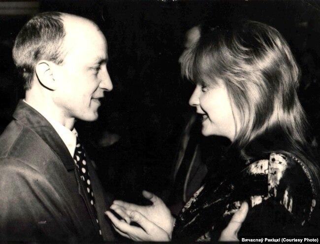 З актрысай Вольгай Клебановіч