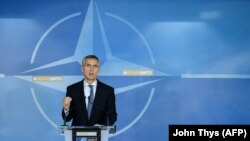 Генералниот секретар на НАТО Јенс Столтенберг, Брисел, 26.10.2017.