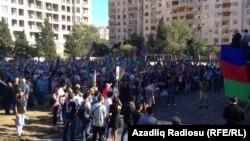Митинг партии Мусават в Баку