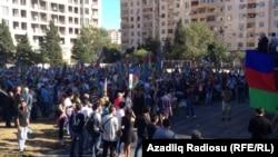 Протест активістів партії «Мусават», Баку, Азербайджан, 18 вересня 2016 року