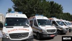 Ambulances in Tehran, Iran. File photo