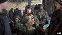 Донецкке чукул жердеги украин аскерлери, 31.01.2015