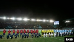 CSKA Moscow played three UEFA Champions League games behind closed doors after racist incidents at this game with Manchester City in Moscow in October 2013.