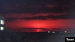 Взрыв на Каспийском море, возле платформы вблизи месторождения Умид, 5 июля 2021 года