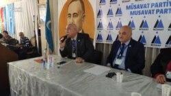 Müsavat partiyasının 9-cu qurultayında keçmiş başqan İsa Qəmbərlə iki namizəd arasında narazılıq