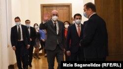 Шарль Мишель в парламенте Грузии