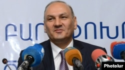 Armenia - Gagik Khachatrian, head of the State Revenue Committee, at a news conference in Yerevan, 20Feb2013.