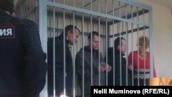 Михайло Фельдман, Дмитро Фонарьов і Олег Саввін в суді