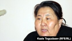 Ажар Узакбаева, жена пропавшего Джалгасбая Узакбаева. Город Жанаозен Мангистауской области, 18 февраля 2012 года.