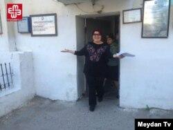 Хадиджа Исмайлова в момент освобождения, 25 мая 2016 года