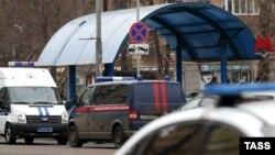 """Оцепленная станция """"Октябрьское поле"""" в Москве"""