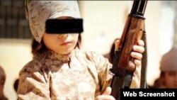 Kazahstanski dječaci u kampu za obuku IDIl-a u Siriji, isječak iz propagandnog filma IDIL-a