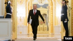 Володимир Путін перед початком звернення до Федеральних зборів, Москва, 1 грудня 2016 року