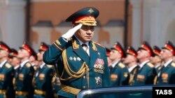 Сергей Шойгу на параде 9 мая 2016 г. в Москве