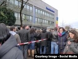 La consulatul român de la Munich, 16 noiembrie (Courtesy: Gertrud Dumitrescu)