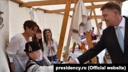 Klaus Iohannis la Miercurea Ciuc