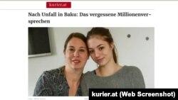 Azra Sahinovic və Vanessa Sahinovic (screeshot www.kurier.at)
