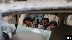 Йемендегі хуситтер қарулы тобының мүшелері.